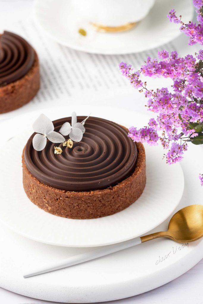 Vegan Triple Chocolate Tart