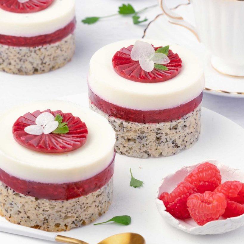 Raspberry, White Chocolate and Poppy seed Cake